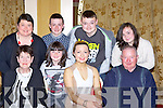 Ladies Player of the Year Selina Looney with her family at the Legion GAA social in the Killarney Avenue hotel Sunday night front l-r: Carmel McCarthy, Selina Looney, Dan McCarthy. Bcak row: Carmel, Darren, Lorna, Kevin and Carmel Looney