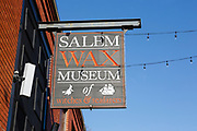 Salem Wax Museum in Salem, Massachusetts, USA which is part of scenic New England
