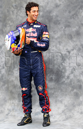 15.03.2012. Melbourne, Australia.  Australian Formula One driver Daniel Ricciardo of Toro Rosso during the photo session at the paddock before the Australian Formula 1 Grand Prix at the Albert Park circuit in Melbourne, Australia, 15 March 2012. The Formula One Grand Prix of Australia will take place on 18 March 2012.