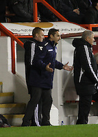 St Mirren manager Danny Lennon shouting instructions in the Aberdeen v St Mirren Scottish Communities League Cup match played at Pittodrie Stadium, Aberdeen on 30.10.12.