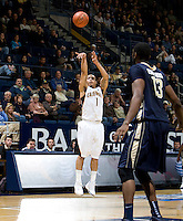 Justin Cobbs of California shoots the ball during the game against George Washington at Haas Pavilion in Berkeley, California on November 13th, 2011.  California defeated George Washington, 81-54.