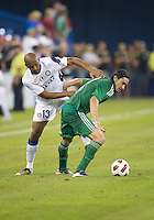 03 August 2010 Panathinaikos FC midfielder Sebastian Eduardo Leto No. 11 and Inter Milan defender Maicon No.13 in action during an international friendly  between Inter Milan FC and Panathinaikos FC at the Rogers Centre in Toronto..Final score was 3-2 for  Panathinaikos FC.