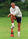 Walter Smith watches Rangers pre-season training in Bellahouston Park, Glasgow July 1995