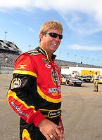 Jul. 4, 2008; Daytona Beach, FL, USA; NASCAR Sprint Cup Series driver Sterling Marlin during qualifying for the Coke Zero 400 at Daytona International Speedway. Mandatory Credit: Mark J. Rebilas-