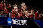 LA CROSSE, WI - MARCH 11: Wabash fans cheered during NCAA Division III Men's Wrestling Championship held at the La Crosse Center on March 11, 2017 in La Crosse, Wisconsin. (Photo by Carlos Gonzalez/NCAA Photos via Getty Images)