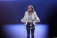 CURITIBA, PR, 03.07.2014 -  PLENÁRIA DO PT - PR / CURITIBA -  A senadora Gleisi Hoffmann  durante a plenária estadual que marca o lançamento da sua candidatura ao governo do Paraná, o evento tem a presença da Presidente Dilma Rousseff e o ex-Presidente Lula e reunir correligionários de várias cidades paranaenses.O evento acontece no Teatro Positivo na noite desta quinta-feira(3). (Foto: Paulo Lisboa / Brazil Photo Press)