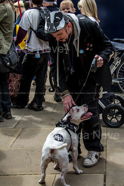 London, 01/06/2013. &quot;London Against the Badger Cull&quot; held a demonstration in central London against the UK Government's controversial pilot badger cull which began today. From their website: &lt;&lt;We think that the government and farmers are scapegoating badgers to avoid addressing the real cause of bTB (bovine tuberculosis): bad farming practices. We feel the evidence suggests that intensive farming and the inhumane treatment of cows in the dairy industry is to blame for the spread of this terrible disease. Cows farmed for the dairy industry live in squalid, overcrowded conditions. They are also under tremendous stress and are overworked, meaning that they are very prone to the spread of diseases. We would like to see the end of cruel farming practices and a more healthy respect for this country's invaluable wildlife by the government and farming communities&gt;&gt;.<br />