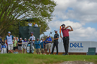Adam Hadwin (CAN) watches his tee shot on 3 during day 2 of the World Golf Championships, Dell Match Play, Austin Country Club, Austin, Texas. 3/22/2018.<br /> Picture: Golffile | Ken Murray<br /> <br /> <br /> All photo usage must carry mandatory copyright credit (&copy; Golffile | Ken Murray)
