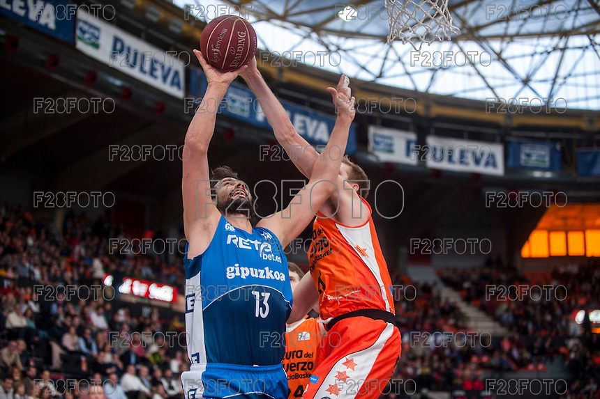 VALENCIA, SPAIN - NOVEMBER 22: David Doblas during Endesa League match between Valencia Basket Club and Retabet.es GBC at Fonteta Stadium on November 22, 2015 in Valencia, Spain