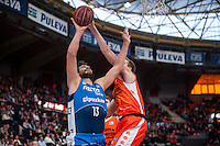 VALENCIA, SPAIN - NOVEMBER 22: David Doblas during Endesa League match between Valencia Basket Club and Retabet.es GBC at Fonteta Stadium on November 22, 2015 in Valencia, Spain