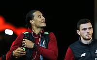 Virgil van Dijk of Liverpool arrives ahead of the Premier League match between Swansea City and Liverpool at the Liberty Stadium, Swansea, Wales on 22 January 2018. Photo by Mark Hawkins / PRiME Media Images.