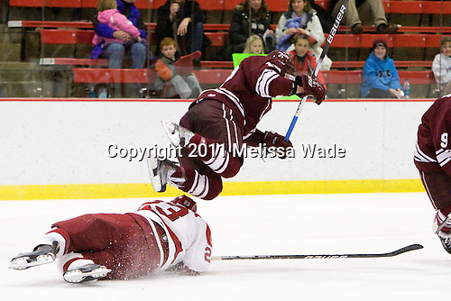 Matt McCollem (Harvard - 23), Brian Day (Colgate - 12) - The Harvard University Crimson defeated the visiting Colgate University Raiders 6-2 (2 EN) on Friday, January 28, 2011, at Bright Hockey Center in Cambridge, Massachusetts.