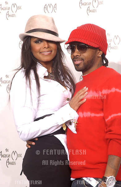 Nov 14, 2004; Los Angeles, CA: Pop star JANET JACKSON & JERMAINE DUPREE at the 32nd Annual American Music Awards at the Shrine Auditorium, Los Angeles, CA..