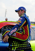 Oct 4, 2008; Talladega, AL, USA; NASCAR Sprint Cup Series driver Casey Mears during qualifying for the Amp Energy 500 at the Talladega Superspeedway. Mandatory Credit: Mark J. Rebilas-
