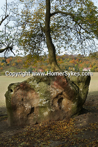 Medway Megaliths. Upper White Horse Stone. Blue Bell Hill Near Aylesford Kent Uk
