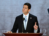 United States Representative Paul Ryan (Republican of Wisconsin), the GOP nominee for Vice President of the United States at the 2012 Republican National Convention in Tampa Bay, Florida on Wednesday, August 29, 2012.  .Credit: Ron Sachs / CNP.(RESTRICTION: NO New York or New Jersey Newspapers or newspapers within a 75 mile radius of New York City)