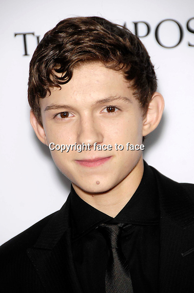 Tom Holland during the premiere of the new movie from Summit Entertainment THE IMPOSSIBLE, held at Arclight Cinerama Dome, Los Angeles, California, 10.12.2012...Credit: StarMaxInc/face to face..- Spain, Hungary, Bulgaria, Croatia, Russia, Romania and Moldavia, Slovakia, Slovenia, Bosnia & Herzegowina, Serbia, Ukraine and Belaurus, Lithuania, Latvia and Estonia, Australia, Taiwan, Singapore, China, Malaysia and Thailand rights only -