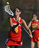 Maggie Casey #4 of Sacred Heart catches a pass during a non-league varsity girls lacrosse game against host Cold Spring Harbor High School on Friday, Apr. 1, 2016. Cold Spring Harbor won by a score of 11-9.