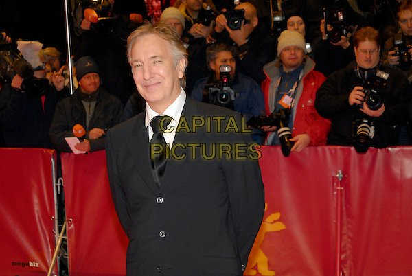 "ALAN RICKMAN.Premiere of ""Snow Cake"" at the 56th Berlin (Berlinale) Film Festival, Berlin, Germany..February 19th, 2006.Ref: KRA.half length black suit jacket.www.capitalpictures.com.sales@capitalpictures.com.©Capital Pictures"