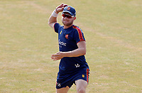 Sam Cook of Essex undertakes throwing drills prior to Essex CCC vs Surrey CCC, Bob Willis Trophy Cricket at The Cloudfm County Ground on 9th August 2020