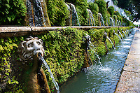 Hundred Fountains, 1569, Villa d'Este, Tivoli, Italy - Unesco World Heritage Site.