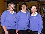 Liz Halpenny and Imelda Toole welcoming the new lady captain Vivienne Meade at Ardee Golf Club. Photo:Colin Bell/pressphotos.ie