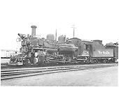 K-28 #478 in Durango yard.<br /> D&amp;RGW  Durango, CO  9/1950