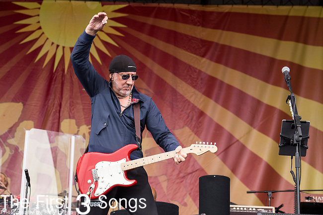 Pete Townshend of The Who performs during the 2015 New Orleans Jazz & Heritage Festival in New Orleans, Louisiana.