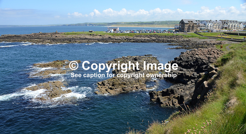 GV, general view, Portrush, Co Antrim, N Ireland, UK, taken from Ramore head. 201406213146<br />
