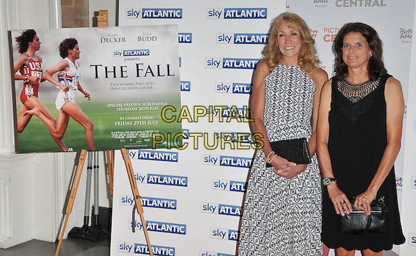Mary Decker &amp; Zola Budd at the &quot;The Fall&quot; documentary film premiere, Picturehouse Central, Corner of Shaftesbury Avenue &amp; Great Windmill Street, London, England, UK, on Wednesday 27 July 2016.<br /> CAP/CAN<br /> &copy;CAN/Capital Pictures