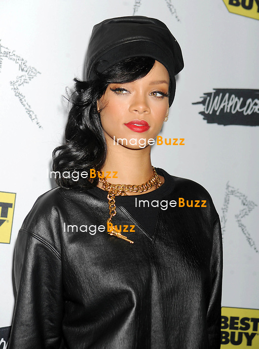 "Rihanna during her "" Unapologetic ""  album release celebration at Best Buy in New York City. New York, November 20, 2012."