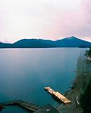 ARGENTINA, wooden pier on Nahuel Huapi lake