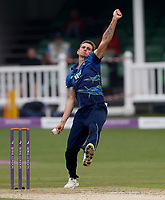 Harry Podmore blowls for Kent during the Royal London One Day Cup game between Kent and Somerset at the St Lawrence Ground, Canterbury, on May 29, 2018
