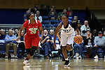 DURHAM, NC - NOVEMBER 30: Duke's Mikayla Boykin (12) and Ohio State's Asia Doss (20). The Duke University Blue Devils hosted the Ohio State Buckeyes on November 30, 2017 at Cameron Indoor Stadium in Durham, NC in a Division I women's college basketball game, and as part of the annual ACC-Big Ten Challenge. Duke won the game 69-60.