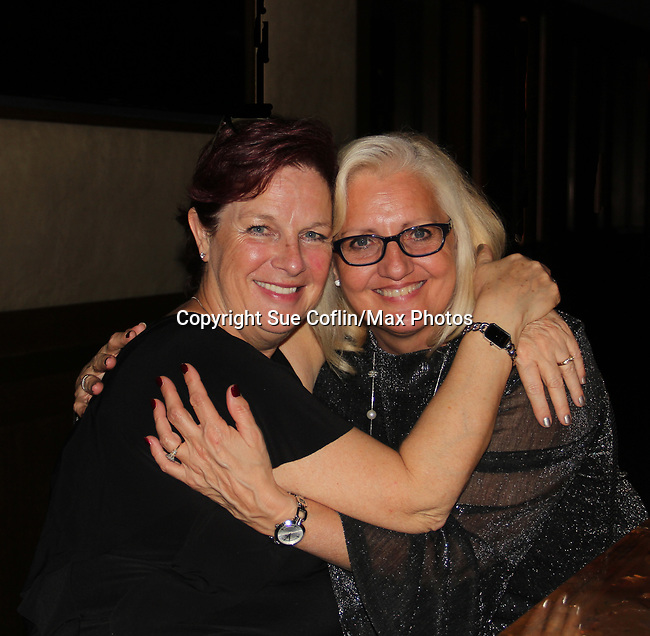 Inge Zegwaard and friend - Hearts of Gold annual All That Glitters Gala - 24 years of support to New York City's homeless mothers and their children - (VIP Reception - Silent Auction) was held on November 7, 2018 at Noir et Blanc and the 40/40 Club in New York City, New York.  (Photo by Sue Coflin/Max Photo)