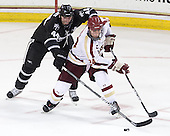 Myles Harvey (PC - 44), Bill Arnold (BC - 24) - The Boston College Eagles defeated the visiting Providence College Friars 4-1 (EN) on Tuesday, December 6, 2011, at Kelley Rink in Conte Forum in Chestnut Hill, Massachusetts.
