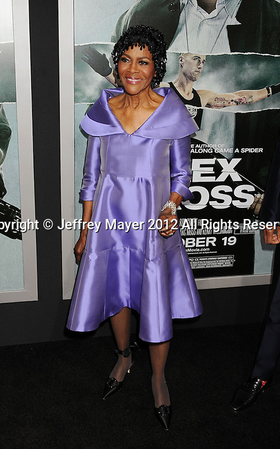 HOLLYWOOD, CA - OCTOBER 15: Cicely Tyson arrives at the Los Angeles premiere of 'Alex Cross' at the ArcLight Cinemas Cinerama Dome on October 15, 2012 in Hollywood, California.