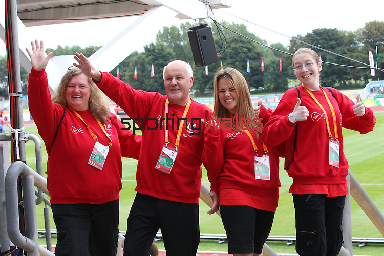 IPC European Athletics Championship 2014<br /> Volunteers<br /> Swansea University<br /> 21.08.14<br /> ©Steve Pope-SPORTINGWALES