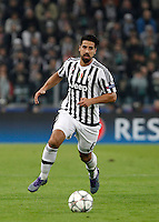 Calcio, andata degli ottavi di finale di Champions League: Juventus vs Bayern Monaco. Torino, Juventus Stadium, 23 febbraio 2016. <br /> Juventus&rsquo; Sami Khedira in action during the Champions League round of 16 first leg soccer match between Juventus and Bayern at Turin's Juventus Stadium, 23 February 2016.<br /> UPDATE IMAGES PRESS/Isabella Bonotto