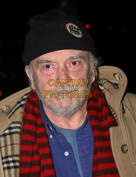 DAVID BAILEY.The Saatchi Gallery's first anniversary party at County Hall which coincides with the launch of new exhibition New Blood.23 March 2004.portrait, headshot, beard, hat.www.capitalpictures.com.sales@capitalpictures.com.© Capital Pictures.