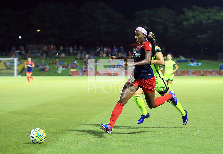 Boyds, MD - Wednesday Sept. 07, 2016: Cheyna Williams during a regular season National Women's Soccer League (NWSL) match between the Washington Spirit and the Seattle Reign FC at Maureen Hendricks Field, Maryland SoccerPlex.