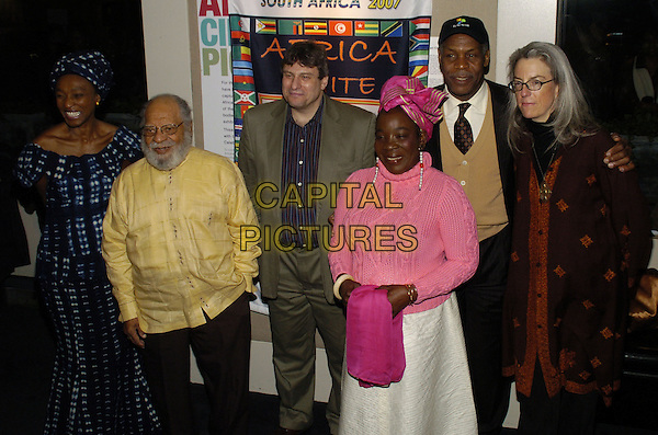 "MAHEN BONETTI, DUDLEY THOMPSON, RICHARD PENA, RITA MARLEY, DANNY GLOVER & JOCELYN BARNES.Premiere of the feature documentary ""Africa Unite"" at Walter Reade Theatre, Lincoln Center, as part of the New York African Film Festival, New York, New York, USA..April 7th, 2007.half length pink top yellow black baseball cap .CAP/ADM/BL.©Bill Lyons/AdMedia/Capital Pictures *** Local Caption ***"