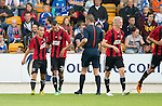 St Johnstone v FC Spartak Trnava...31.07.14  Europa League 3rd Round Qualifier<br /> Ivan Schranz celebrates his goal<br /> Picture by Graeme Hart.<br /> Copyright Perthshire Picture Agency<br /> Tel: 01738 623350  Mobile: 07990 594431