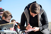 Lincoln City's Josh Vickers signs autographs for fans after arriving at the ground<br /> <br /> Photographer Chris Vaughan/CameraSport<br /> <br /> The EFL Sky Bet League Two - Lincoln City v Stevenage - Saturday 16th February 2019 - Sincil Bank - Lincoln<br /> <br /> World Copyright © 2019 CameraSport. All rights reserved. 43 Linden Ave. Countesthorpe. Leicester. England. LE8 5PG - Tel: +44 (0) 116 277 4147 - admin@camerasport.com - www.camerasport.com
