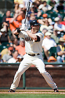 12 April 2008: #40 Daniel Ortmeier of the Giants is seen at bat during the St. Louis Cardinals 8-7 victory over the San Francisco Giants at the AT&T Park in San Francisco, CA.