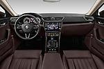 Stock photo of straight dashboard view of 2016 Skoda Superb Combi Laurin & Klement 5 Door Wagon Dashboard