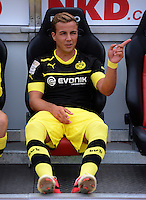 FUSSBALL   1. BUNDESLIGA  SAISON 2012/2013   2. Spieltag 1. FC Nuernberg - Borussia Dortmund       01.09.2012 Mario Goetze (Borussia Dortmund) AUF DER ERSATZBANK