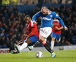 Kris Boyd mistimes his shot as Nat Wedderburn challenges