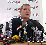 Dave King addressing the assembled media this morning