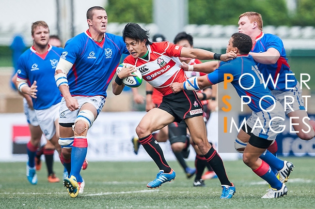 Japan vs Namibia during the Day 2 of the IRB Junior World Rugby Trophy 2014 at the Hong Kong Football Club on April 11, 2014 in Hong Kong, China. Photo by Xaume Olleros / Power Sport Images